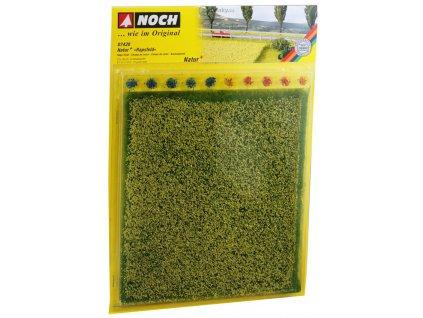 Řepkové pole s trsy trávy 22x20cm  / NOCH 07420