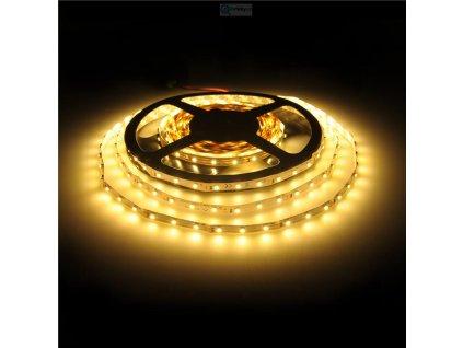 3 LED / 5cm pásek osvětlení SMD3528 - teple bílé 12V, 4,8W/m / WE 09525