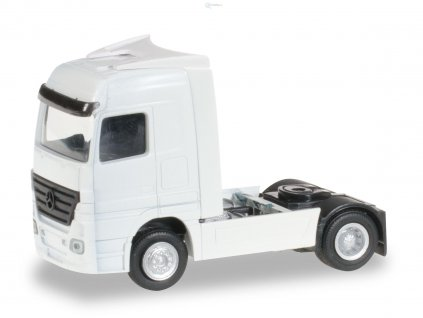 TT - 2 ks tahače Mercedes-Benz Actros bílý - stavebnice / Herpa 084406