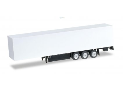 TT - 2 ks návěsu s paletami, bílý - stavebnice / Herpa 084529