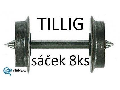 TT - 8ks kovových dvojkolí, jednostranně izolováno, průměr 7,5 mm / Tillig 08818
