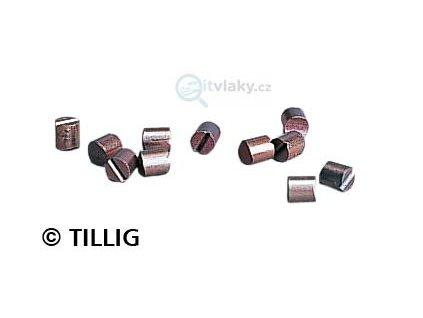 TT - kruhové uhlíky 10 ks 395880 do hranatých motorů KOSTKA / Tillig 08876