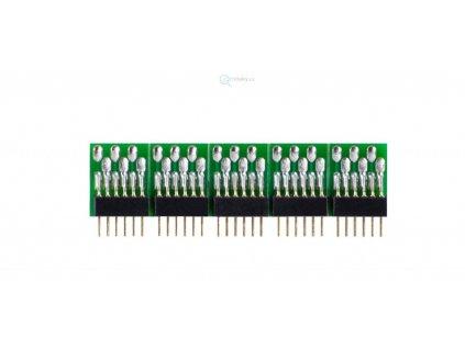 Konektor/záslepka pro DCC rozhraní 6-pin NEM 651 - 5 ks /  Tillig 08914