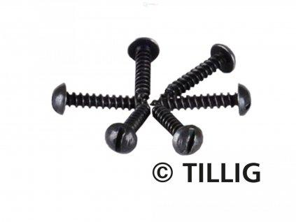 TT/H0 - šroubky k upevnění kolejí 1,4 x 8 mm, 100ks / Tillig 08970