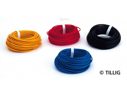 Drát v barvě červené, modré, černé a žluté (každý 10 m)  / TILLIG 08972