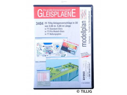 CD-ROM GLEISPLANE II 3404 -  Plány kolejišť nad 3 m v TT/TILLIG 09549