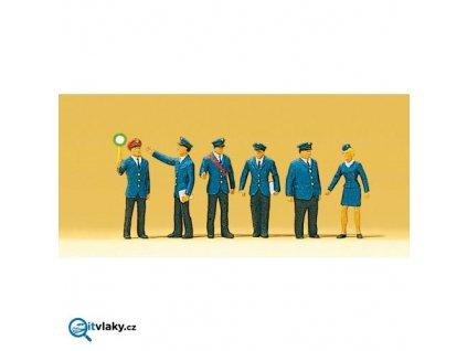 H0 - Železniční personál 6 ks figurek / Preiser 10011