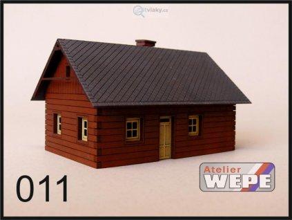 H0 - Historické stavení ,,Roubenka malá'' 011 / AWEPE model 10021