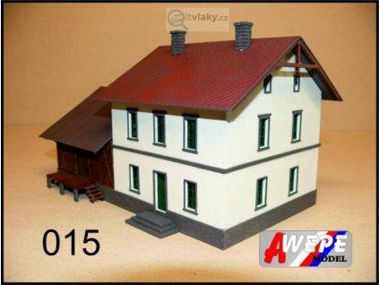H0 - Budova nádraží se skladem ,,Ronov nad Doubravou'' 015 / AWEPE model 10029