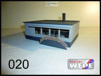 H0 - Budova prodejny ,,Jednota'' 020 / AWEPE model 10039