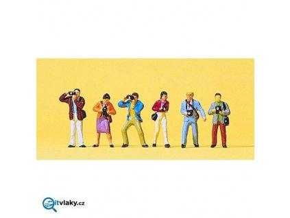 H0 - Fotografující postavy 6 ks figurek / Preiser 10089
