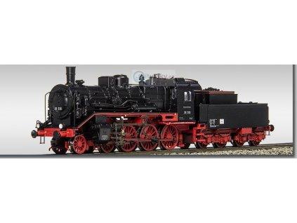 TT - parní lokomotiva BR 38 318 DR tendr s dřevěnou nádstavbou / BECKMANN 1018307