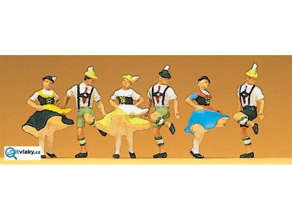 H0 - Tanečnící v krojích, Bavorsko, 6 figurek / Preiser 10240