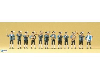 H0 - Bavorská kapela, 12 figurek / Preiser 10250