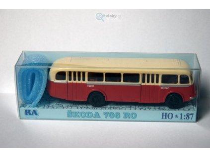 H0 - Škoda 706 RO červeno/bílý / RA Došlý 103100