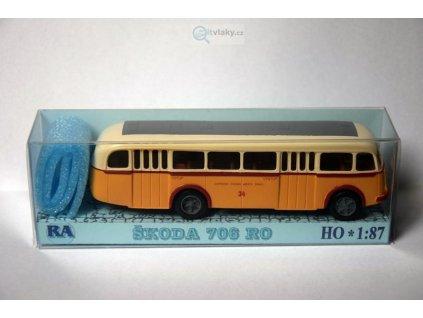 H0 - Škoda 706 RO žluto/bílý DP města Opavy / RA Došlý 103107