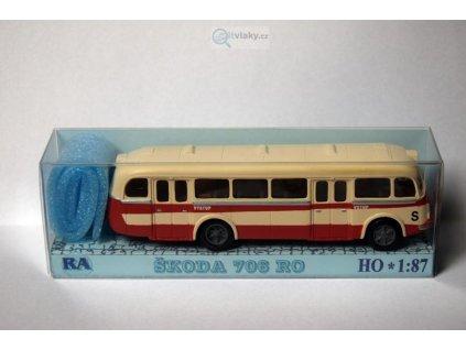 H0 - Škoda 706 RO červeno/bílý / RA Došlý 103109