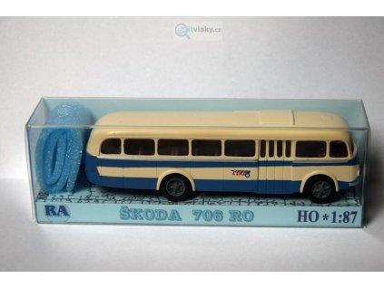 H0 - autobus Škoda 706 RO modro/bílý / RA Došlý 103210