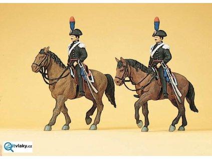 H0 - Carabinieri na koních, Itálie, 2 figurky / Preiser 10398