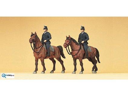 H0 - Policie na koních v Německu 1960, 2 figurky / Preiser 10399