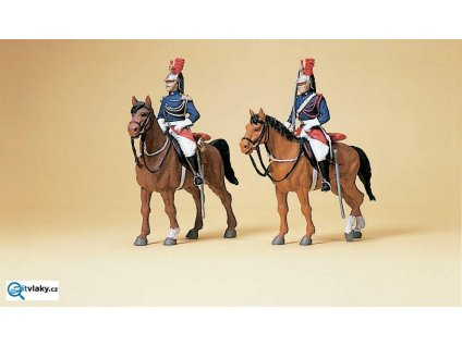 H0 - Republikánské gardy na koních, 2 figurky / Preiser 10435