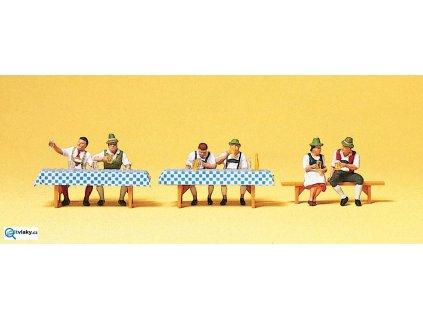 H0 - Na pivní slavnosti I, 6 figurek / Preiser 10447