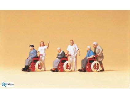 H0 - Domov důchodců, 6 figurek / Preiser 10479