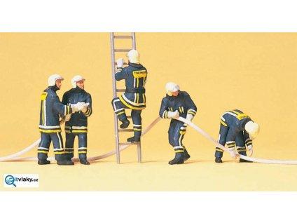 H0 - Moderní hasiči, 5 figurek / Preiser 10485