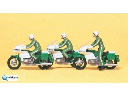 H0 - Policie na motorkách, 3 figurky / Preiser 10489