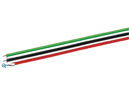 Plochý kabel 10m - 0,7 mm2 / 3dráty - k výhybkám ROCO / Roco 10623