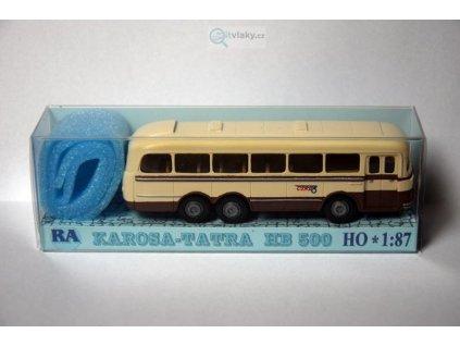 H0 - Tatra Karosa HB 500 hnědo/bílý / RA Došlý 108103