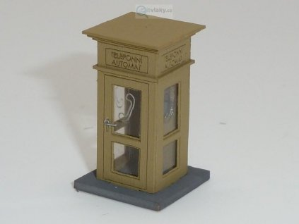 236611 h0 telefonni budka stavebnice igra model 111003