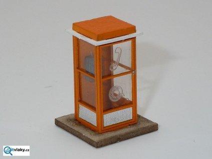 236614 h0 telefonni budka oranzova stavebnice igra model 111004