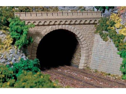 H0 - 2 dvoukolejné tunelové portály / Auhagen 11343
