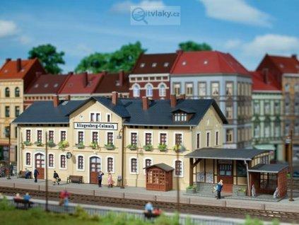 H0 - Nádraží Klingenberg - Colmnitz, stavebnice / Auhagen 11346