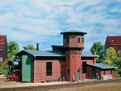 H0 - Lokomotivní výtopna s vodárenskou věží / Auhagen 11400