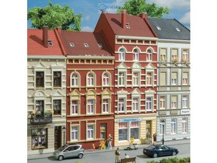 H0 - Městské domy v ulici Schmidtstrasse 27/29 / Auhagen 11417