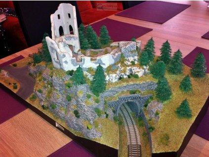ARCHIV TT - modul MOKOKO se zříceninou hradu / Malá železnice 00307m