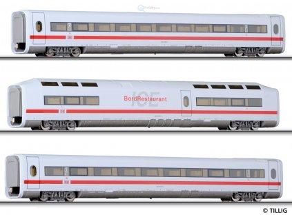 ARCHIV TT - rozšiřující set ICE vozy 1. třída + 2. třída + bistro / Tillig 01611