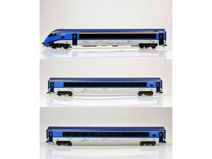 ARCHIV TT -  set 3 vozů Railjet ČD, 2x 2.třída a řídící vůz / Tillig 01754