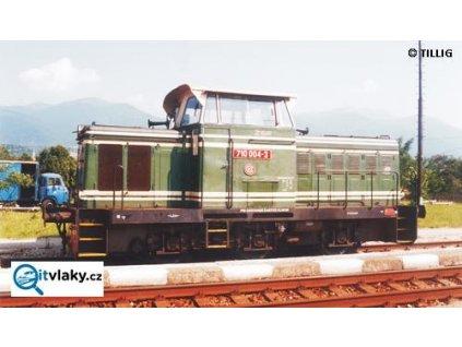 TT - dieselová lokomotiva ř. T334 zelená, ŽSR / TILLIG 04610