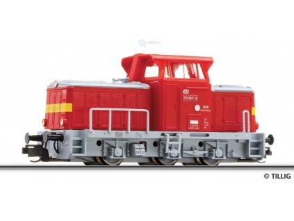 ARCHIV TT - lokomotiva 710.607 -T 334 ČD Rosnička SDC Pardubice/ TILLIG 04613