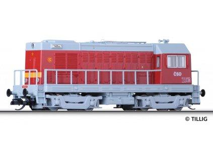 ARCHIV TT - Lokomotiva T 435.0091 HEKTOR, ČSD červená / TILLIG 04624