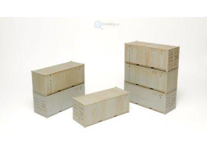 TT -  6 ks kontejnerů ISO 1C Intrans, stavebnice / SDV Model 12042