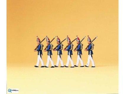 H0 - 1. Pěší oddíl - Prusko, 6 figurek / Preiser 12189