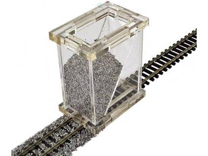 H0 - sypač štěrku, sestavený / Proses PBS-H0-01