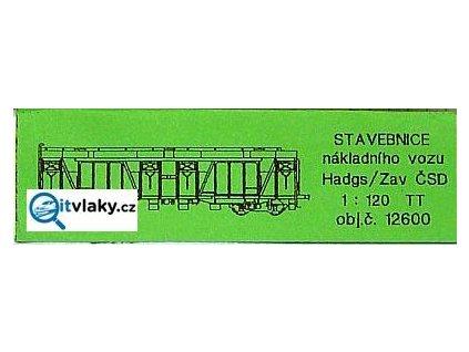 ARCHIV TT - stavebnice nákladního vozu Hadgs / Zav / DETAIL 12600