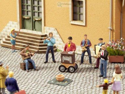 H0 - Pouliční muzikanti, ozvučené figurky / NOCH 12820