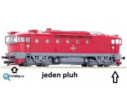 TT - ND pluh s otvorem na spřáhlo pro červený Brejlovec 36250-51 / ROCO 130590
