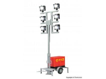 H0 - Přenosné LED světlomety s přívěsem, teleskopické / Viessmann 1344